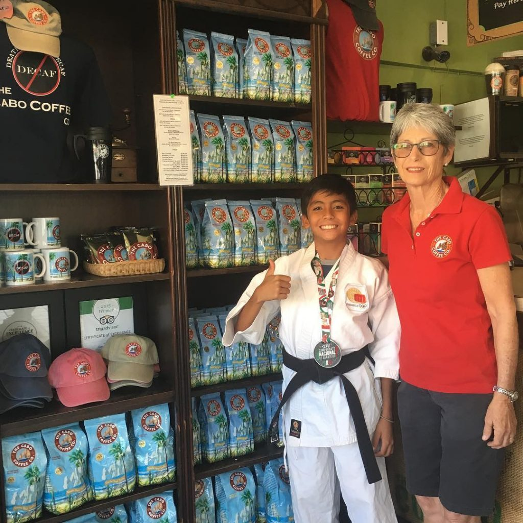 Cabo Coffee Sponsors Juvenile Karate Champion